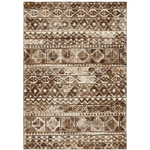 Cadiz 493 Brown Rust Textured Modern Rug - Rugs Of Beauty - 1