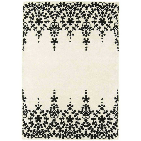 Asiatic Guild White Designer Rug - Rugs Of Beauty