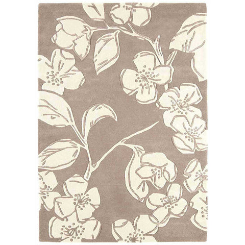 Asiatic Devore Taupe Designer Rug - Rugs Of Beauty - 1
