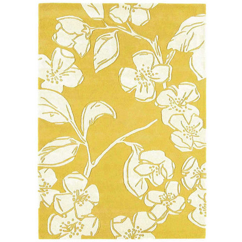 Asiatic Devore Yellow Designer Rug - Rugs Of Beauty