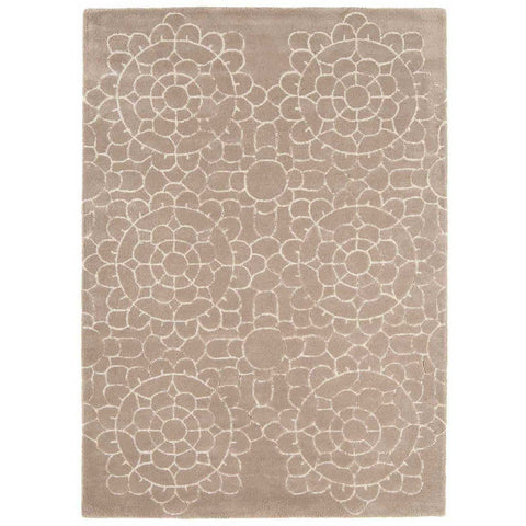 Asiatic Crochet Beige Designer Rug - Rugs Of Beauty