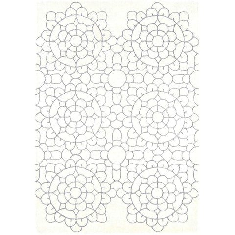 Asiatic Crochet Cream Designer Rug - Rugs Of Beauty