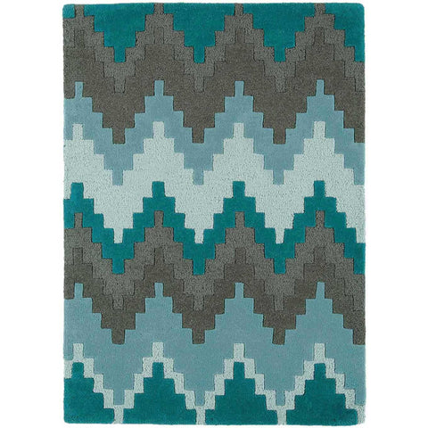 Asiatic Cuzzo Teal Blue Designer Rug - Rugs Of Beauty - 1