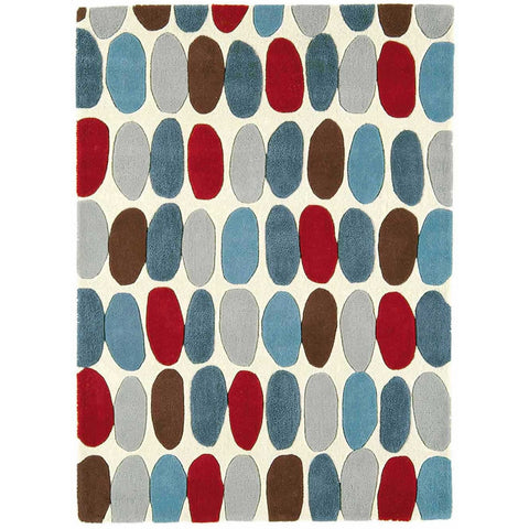 Asiatic Sofia Red/Teal Designer Rug - Rugs Of Beauty