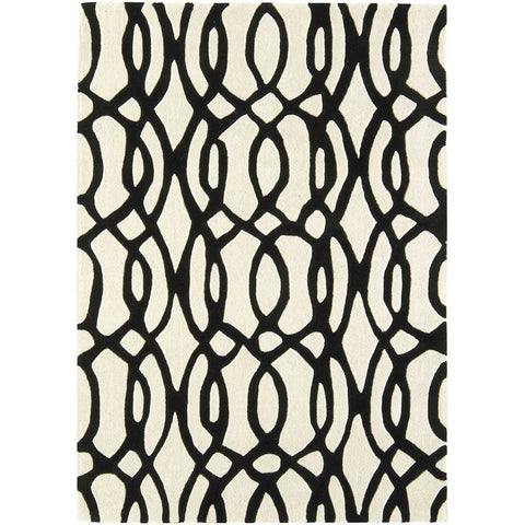 Asiatic Wire White Designer Rug - Rugs Of Beauty