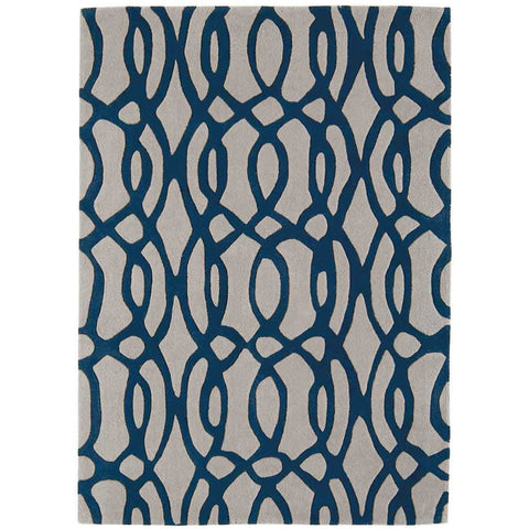 Asiatic Wire Blue Designer Rug - Rugs Of Beauty