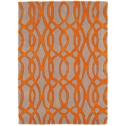 Asiatic Wire Orange Designer Rug - Rugs Of Beauty