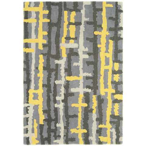 Asiatic Ripley Yellow Designer Rug - Rugs Of Beauty