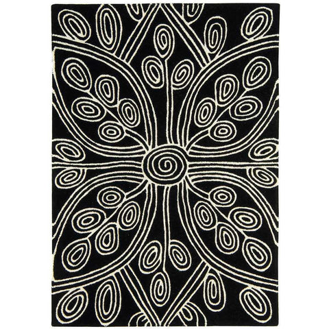 Asiatic Kaya Black Designer Rug - Rugs Of Beauty