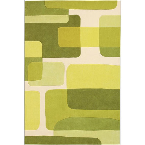 Arte Espina Abstract Designer Rug Green 240x170cm - Rugs Of Beauty