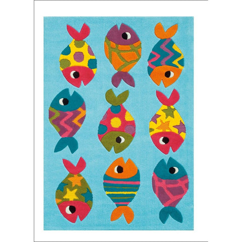 Arte Espina Cute Little Fish Rug Blue 160x110cm - Rugs Of Beauty