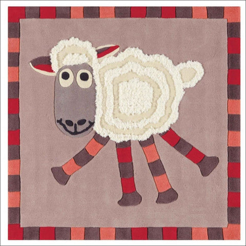 Arte Espina Cute Little Lamb Rug Beige 130x130cm - Rugs Of Beauty - 1