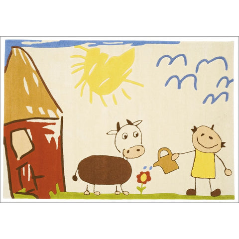 Arte Espina Kids Farm Drawing Rug 160x110cm - Rugs Of Beauty - 1