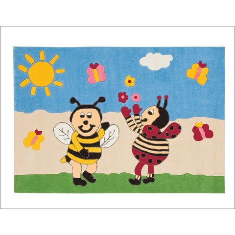 Arte Espina Kids Bumble Bee and Lady Bird Rug 160x110cm - Rugs Of Beauty
