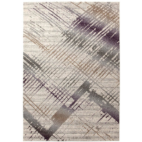 Luna 420 Purple Multi Coloured Abstract Patterned Modern Rug - Rugs Of Beauty - 1