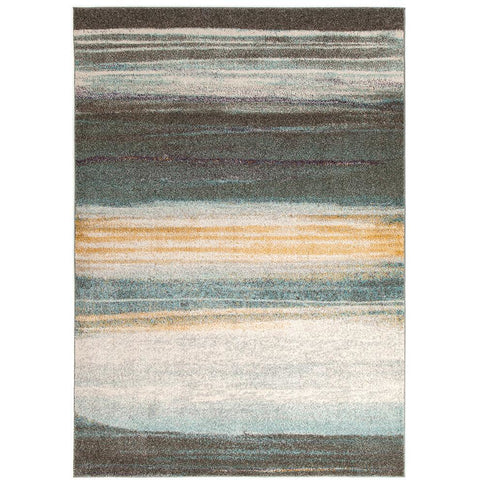 Luna 422 Multi Coloured Abstract Stripe Patterned Modern Rug - Rugs Of Beauty - 1