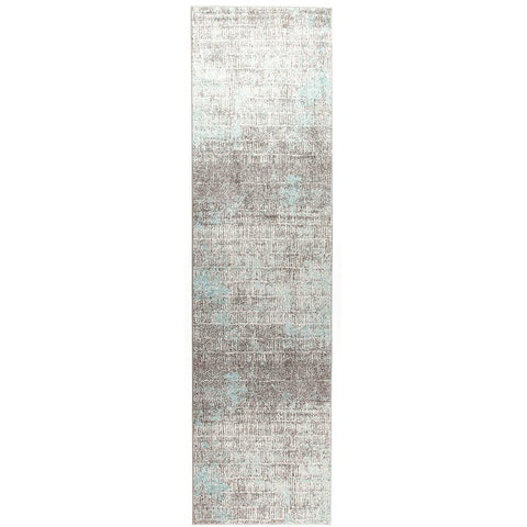 Luna 423 Blue Grey Beige Abstract Patterned Modern Runner Rug - Rugs Of Beauty - 1