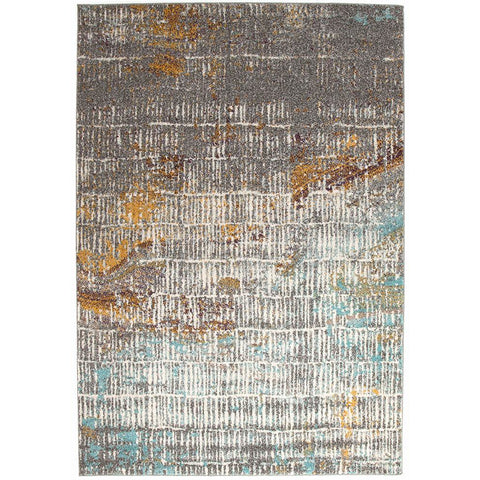 Luna 423 Multi Coloured Abstract Patterned Modern Rug - Rugs Of Beauty - 1