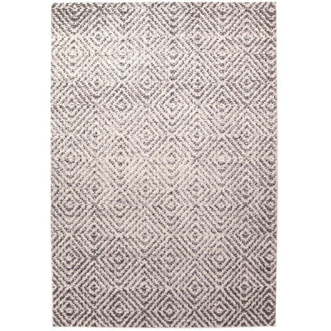 Luna 425 Grey Beige Diamond Patterned Modern Rug - Rugs Of Beauty - 1