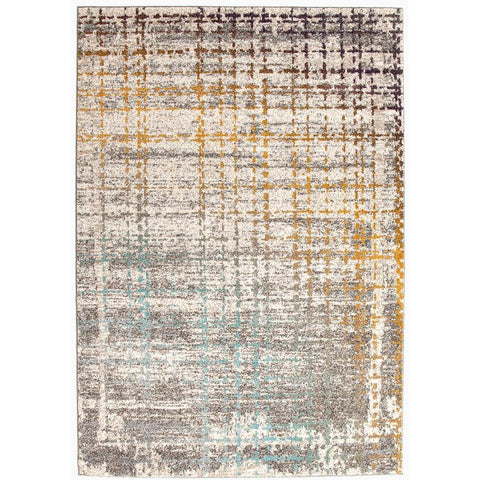 Luna 426 Multi Coloured Abstract Patterned Modern Rug