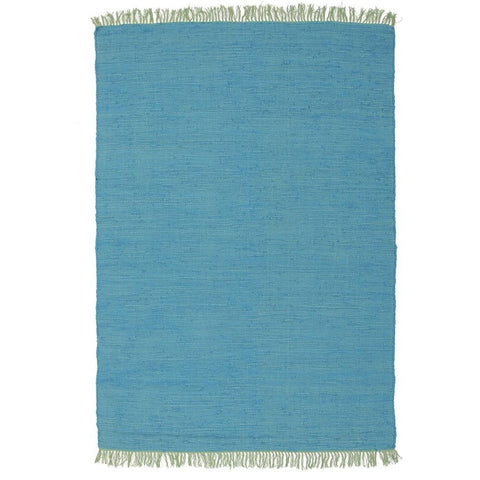 Atrium Code Blue Designer Flat Woven Rug - Rugs Of Beauty