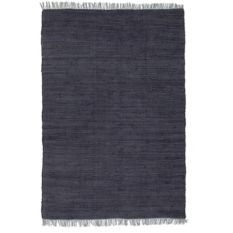 Atrium Code Navy Designer Flat Weave Rug - Rugs Of Beauty