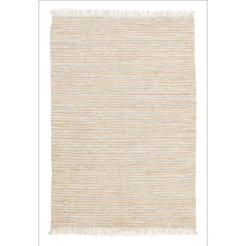 Bondi Leather and Jute Flatweave Rug White - Rugs Of Beauty