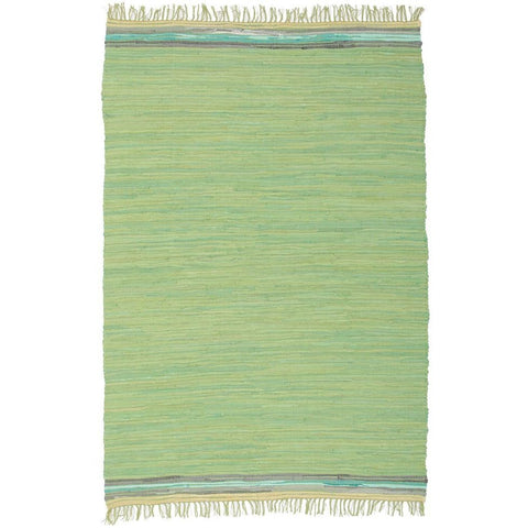 Atrium Hunter Green Flatweave Cotton Designer Rug - Rugs Of Beauty