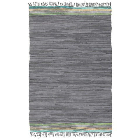 Atrium Hunter Rock Designer Flatweave Cotton Rug - Rugs Of Beauty