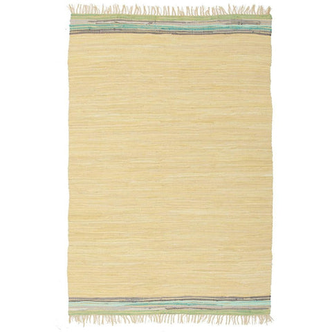 Atrium Hunter Yellow Designer Flatweave Cotton Rug - Rugs Of Beauty