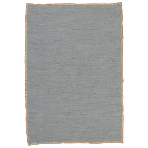 Atrium Play Blue Designer Flatweave Cotton Jute Rug - Rugs Of Beauty