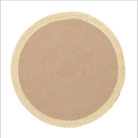 Milano Metallic Gold and Natural Rug Flatweave Round Rug - Rugs Of Beauty