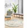 Vedi 2671 Grey Rose Transitional Round Rug - Rugs Of Beauty - 3