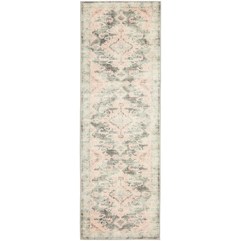 Vedi 2671 Grey Rose Transitional Runner Rug - Rugs Of Beauty - 1