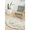 Vedi 2671 Grey Rose Transitional Round Rug - Rugs Of Beauty - 2
