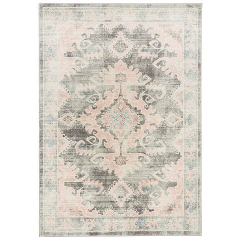 Vedi 2671 Grey Rose Transitional Rug - Rugs Of Beauty - 1