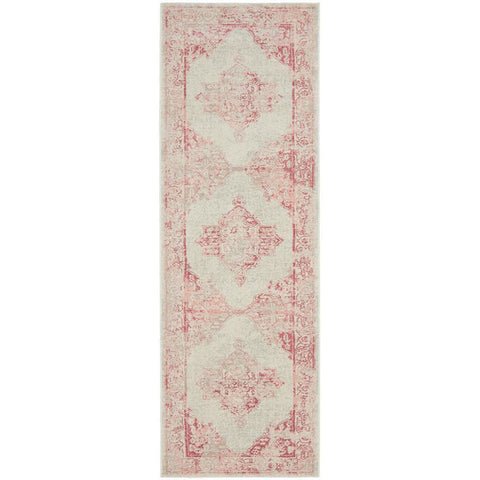Vedi 2672 Rose Beige Transitional Runner Rug - Rugs Of Beauty - 1