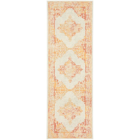 Vedi 2672 Yellow Orange Earth Transitional Runner Rug - Rugs Of Beauty - 1