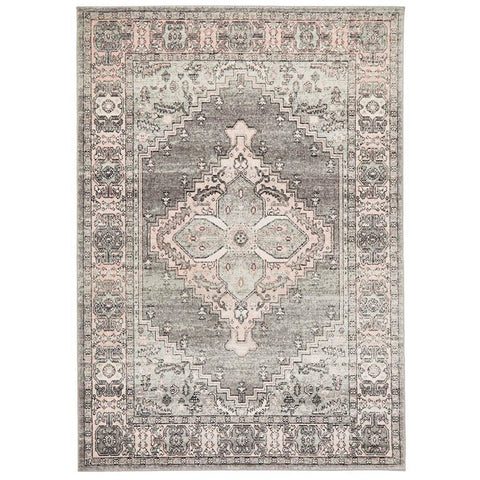 Vedi 2673 Grey Rose Transitional Rug - Rugs Of Beauty - 1