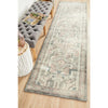 Vedi 2674 Silver Grey Rose Multi Coloured Transitional Runner Rug - Rugs Of Beauty - 2