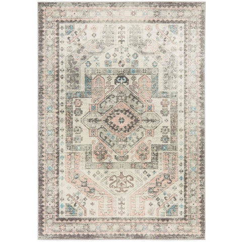 Vedi 2674 Silver Grey Rose Multi Coloured Transitional Rug - Rugs Of Beauty - 1