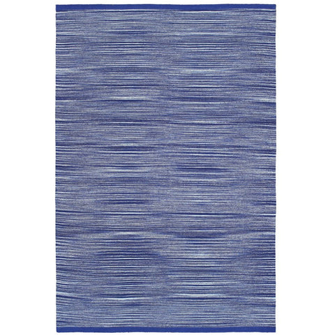 Prima Cotton Blue Modern Flatweave Rug - Rugs Of Beauty