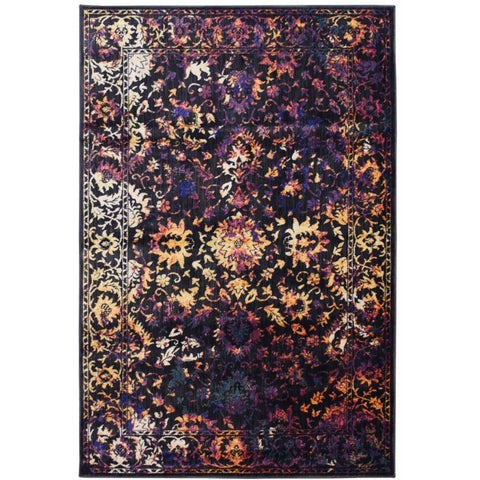 Halifax Multi Coloured Floral Tabriz Transitional Patterned Rug - Rugs Of Beauty