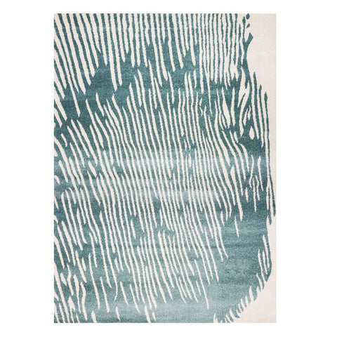 Kara 927 Blue Modern Abstract Pattern Rug - Rugs Of Beauty - 1