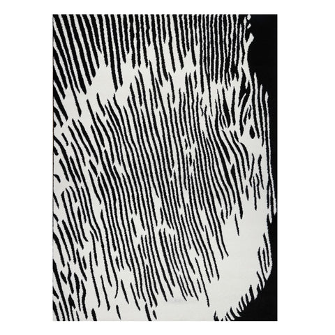 Kara 927 Black White Modern Abstract Pattern Rug - Rugs Of Beauty - 1