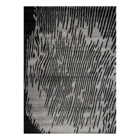 Kara 927 Grey Black Modern Abstract Pattern Rug - Rugs Of Beauty - 1