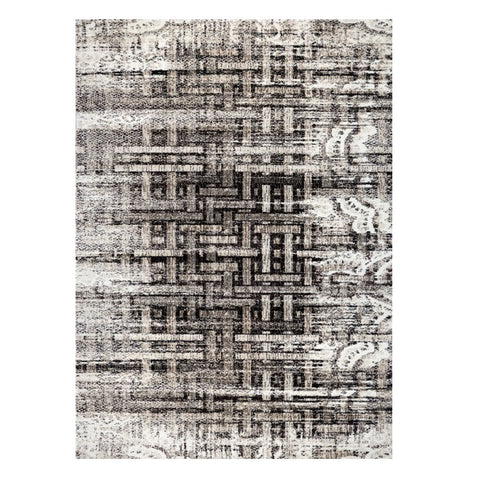 Kara 928 Beige Grey Modern Abstract Pattern Rug - Rugs Of Beauty - 1