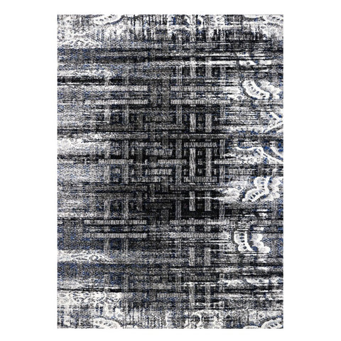 Kara 928 Grey Blue Beige Modern Abstract Pattern Rug - Rugs Of Beauty - 1