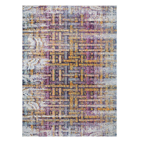 Kara 928 Multi Coloured Modern Abstract Pattern Rug - Rugs Of Beauty - 1