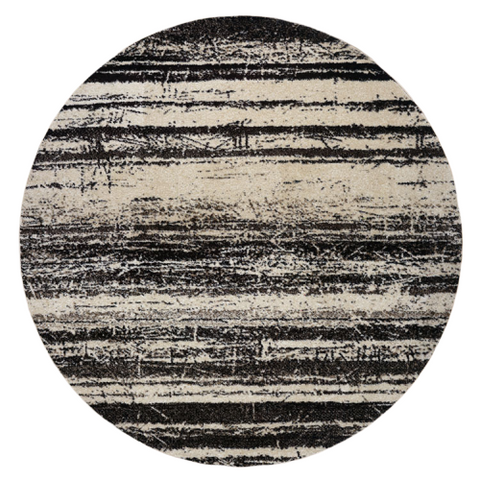Kara 929 Beige Grey Modern Abstract Pattern Round Rug - Rugs Of Beauty - 1